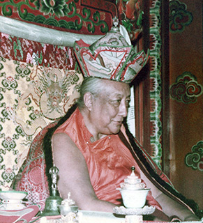 His Holiness Dilgo Khyentse Rinpoche in Ka-Nying Shedrub Ling Monastery