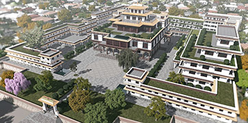 Ka-Nying Shedrub Ling Monastery latest design, 2017, Oct