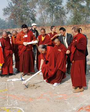 Inauguration of the construction of the Thousand Buddha Temple