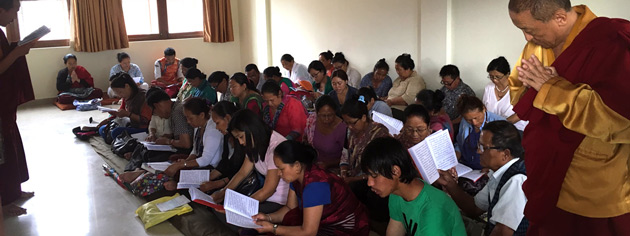 Local students engaging in study of Tibetan language